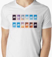 Texting pattern Men's V-Neck T-Shirt