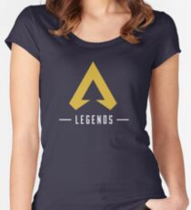 Apex Legends T-Shirt Merch Icon Gold Women's Fitted Scoop T-Shirt