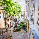 Steps at Montmartre by John Rivera
