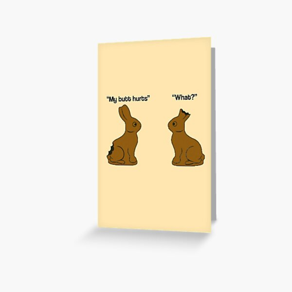 Chocolate Easter Bunnies (Easter/Special Occasion) Greeting Card