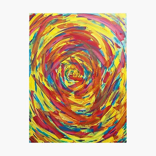 rainbow spiral Photographic Print