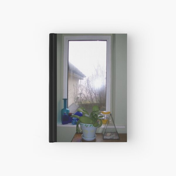 View with Blue Hardcover Journal
