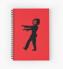 Zombie TV Guy by Chillee Wilson Spiral Notebook