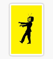 Zombie TV Guy by Chillee Wilson Sticker