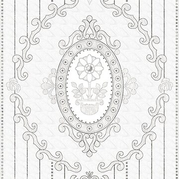 Barock Tapete in Sketch BW von pASob-dESIGN