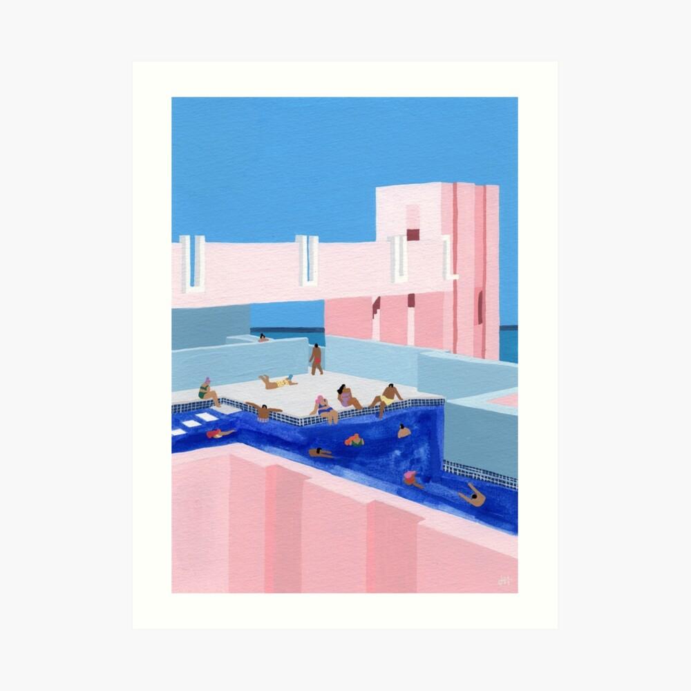 Spain Pool Art Print