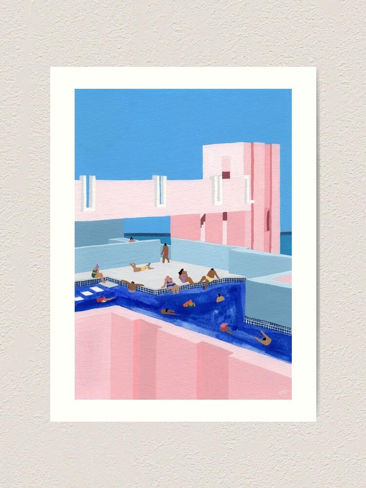 Alternate view of Spain Pool Art Print