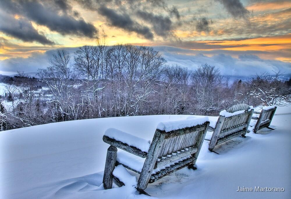 Storm Arrives Mt Snow Vermont by Jaime Martorano