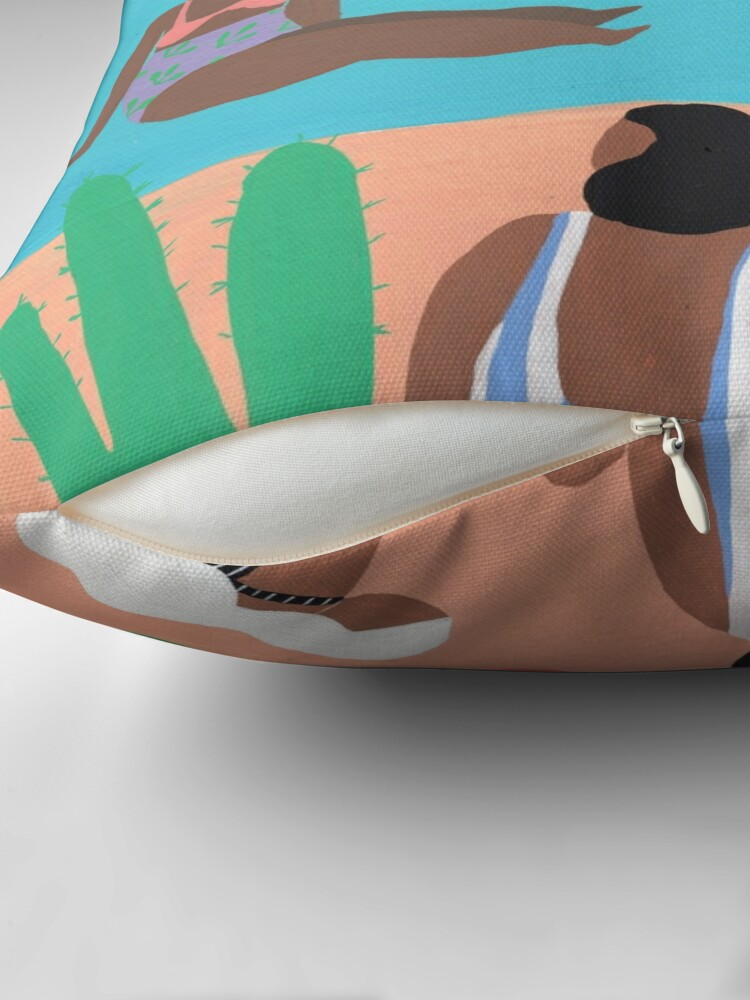 Alternate view of Fruity beach Throw Pillow