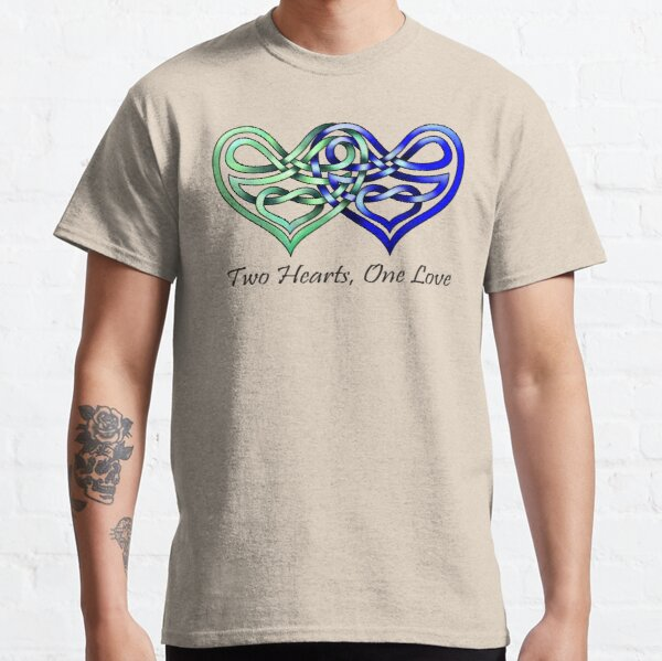 Celtic Knot Two Hearts, One Love Classic T-Shirt