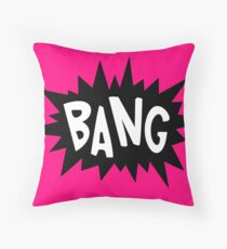 Cartoon Bang by Chillee Wilson Throw Pillow