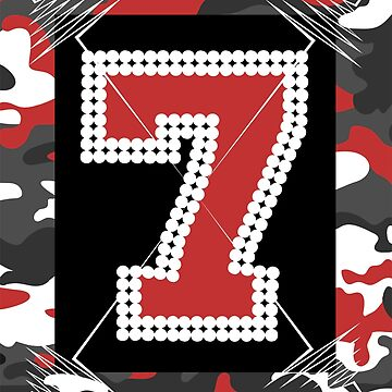 Camouflage 7 Red - An Edge Tribute by GR8DZINE