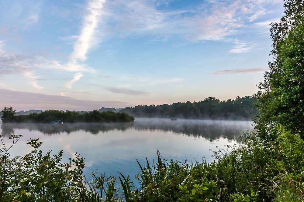 Early Morning At The Lake by colinstock