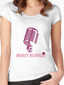 Moneyrunner - Mic T-shirt Women's Fitted Scoop T-Shirt