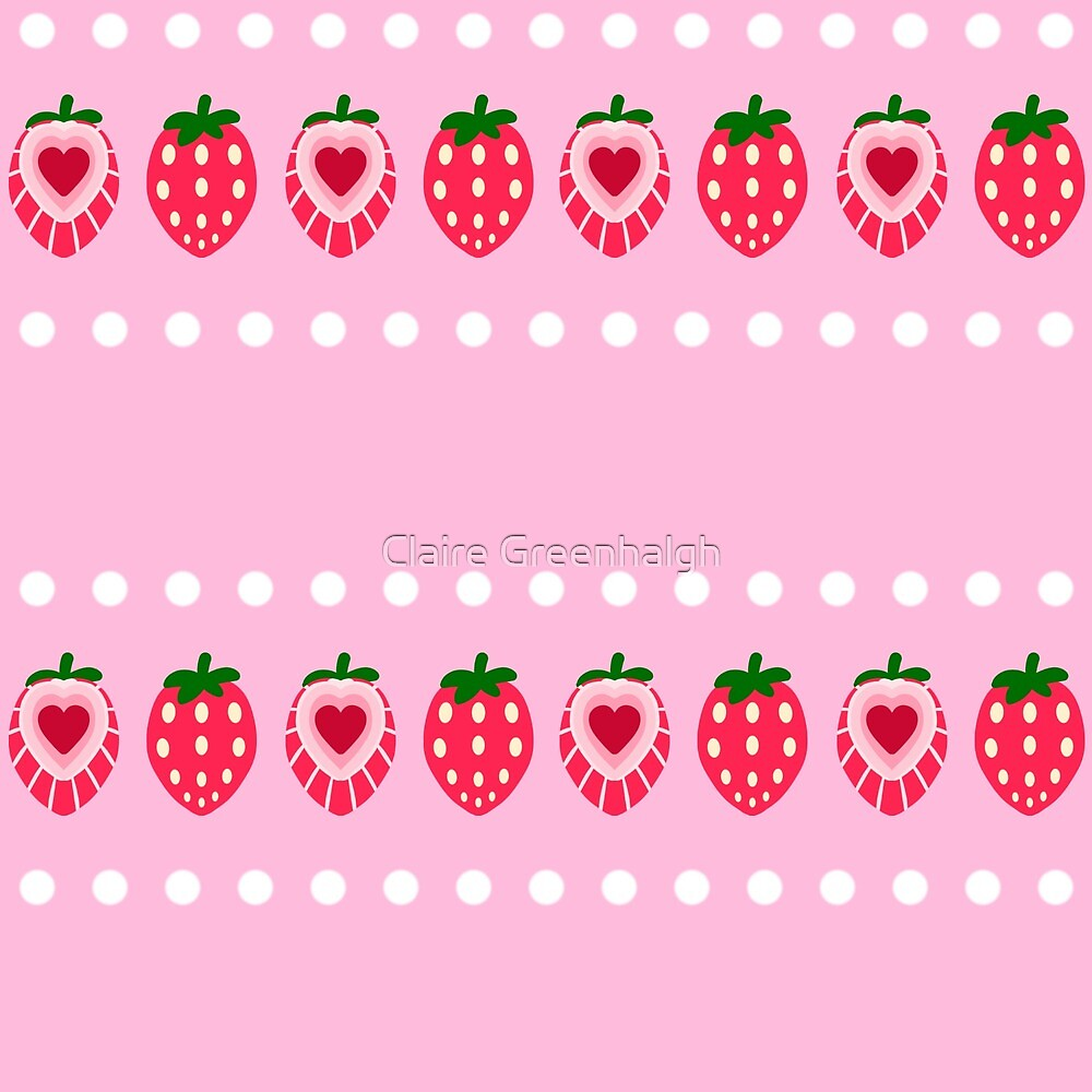Strawberry Spot Stripes by Claire Greenhalgh