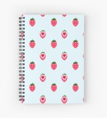 Strawberry Tiles Spiral Notebook