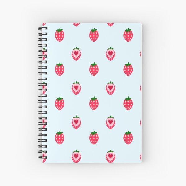 Strawberry Tiles Spiral Notebook