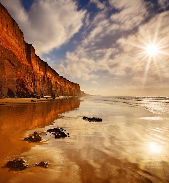 Sunburst Reflection - Anglesea by Mark Shean
