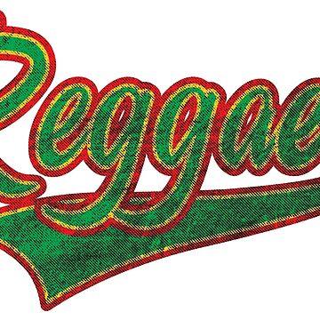 Reggae Roots Rasta Old School Wash by ElPato