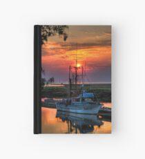 Sunset Over Scotch Pond Hardcover Journal