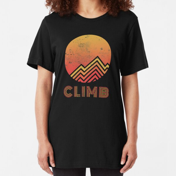 Retro Climb - Rock Climbing Slim Fit T-Shirt