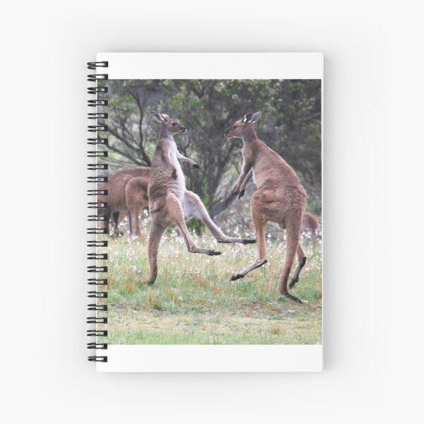Kangaroos tail standing Spiral Notebook