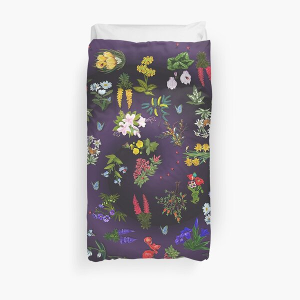 D1G1TAL-M00DZ ~ FLORAL ~ Ladybird and Butterfly  by tasmanianartist 140219 Duvet Cover