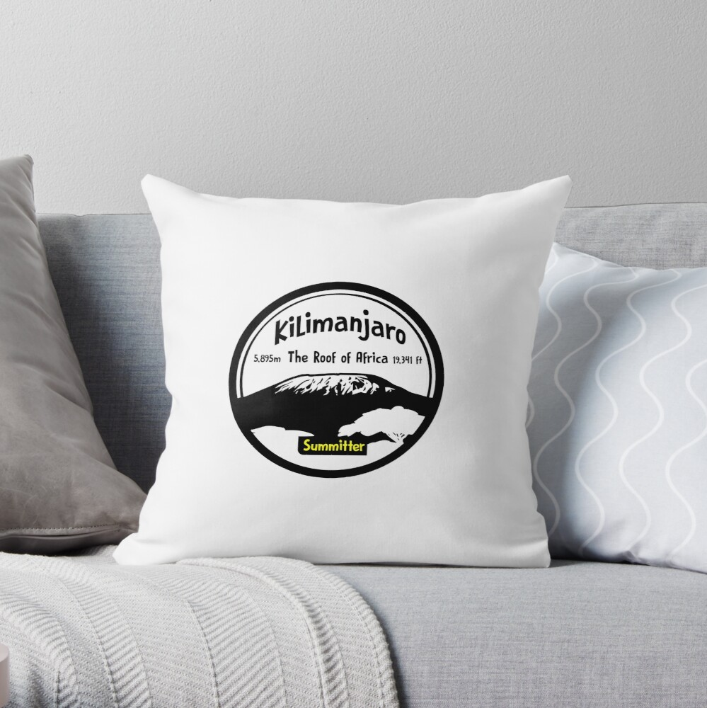 Kilimanjaro Summitter - The Roof of Africa Throw Pillow
