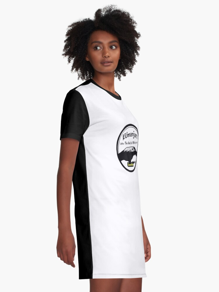 Alternate view of Kilimanjaro Summitter - The Roof of Africa Graphic T-Shirt Dress