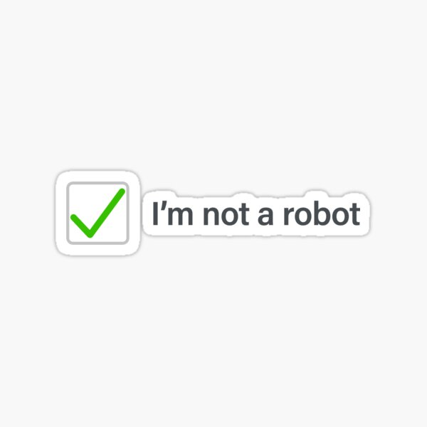 I'm not a robot - (checked version) Sticker