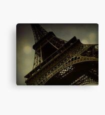 Vintage romantic Eiffel Tower Canvas Print