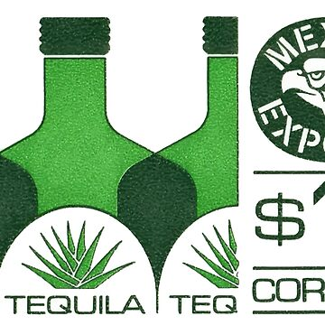 Vintage Mexico Postage Stamp Tequila by retrographics