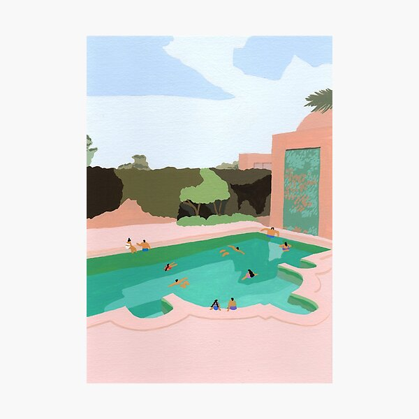 Backyard dip Photographic Print