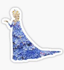 Flowery Elsa Sticker