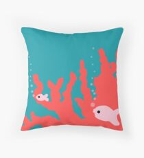 Pantone Living Coral Reef Throw Pillow