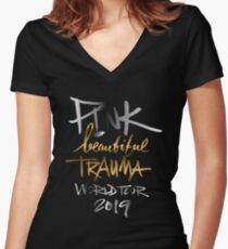 PINK BEAUTIFUL TRAUMA WORLD TOUR 2019 Fitted V-Neck T-Shirt