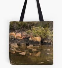 Rock Reflections at Blackwood Rivermouth, Augusta, Western Australia Tote Bag