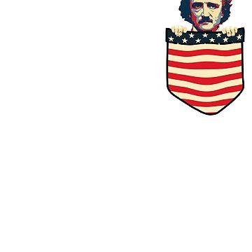 Edgar Allan Poe Chest Pocket by idaspark