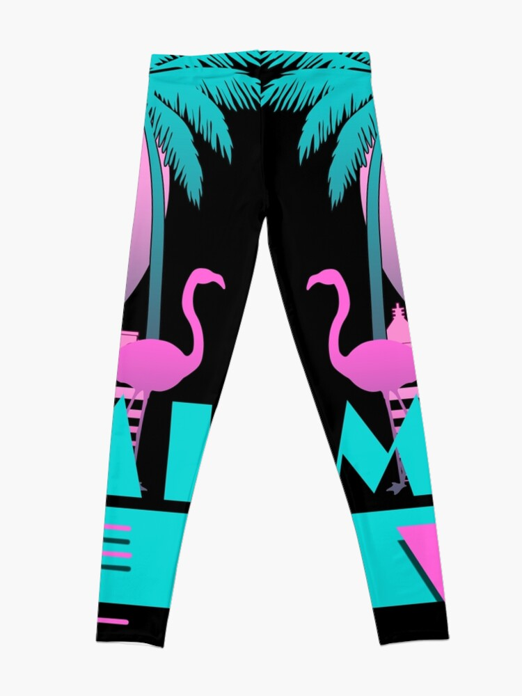 Alternate view of Miami Vice - Retro 80s Design Leggings