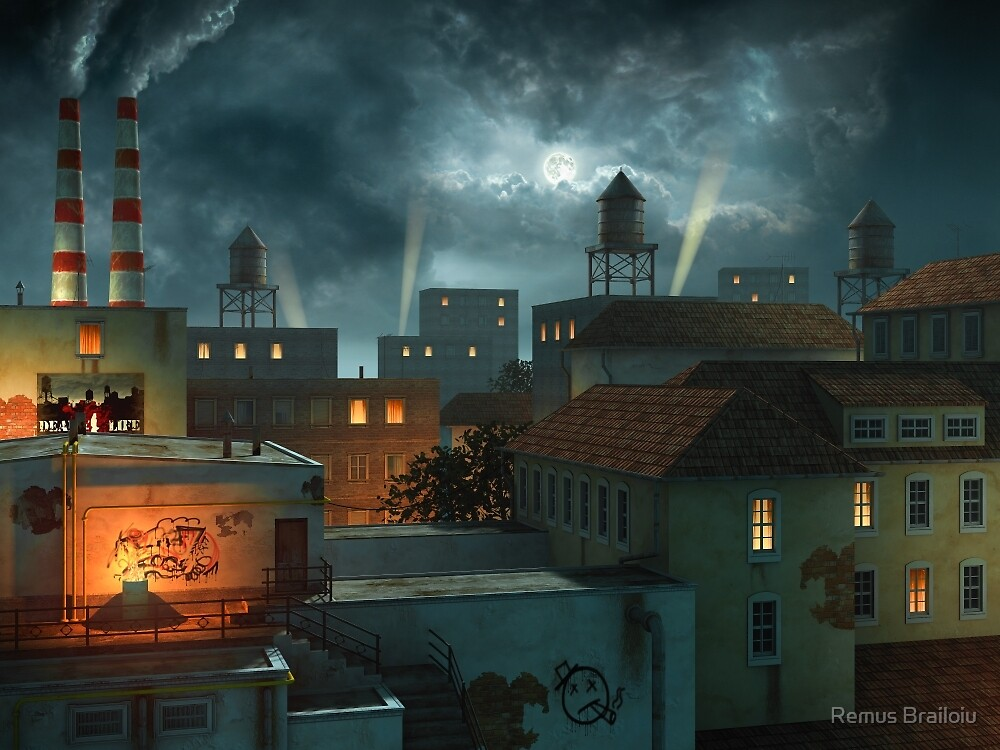 Zone Industrielle - Night by Remus Brailoiu