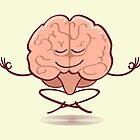 Cartoon brain meditating in lotus pose by Zoo-co
