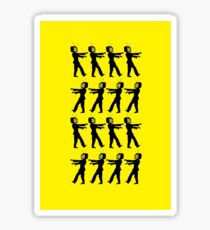 March of the Zombie TV Guys by Chillee Wilson Sticker