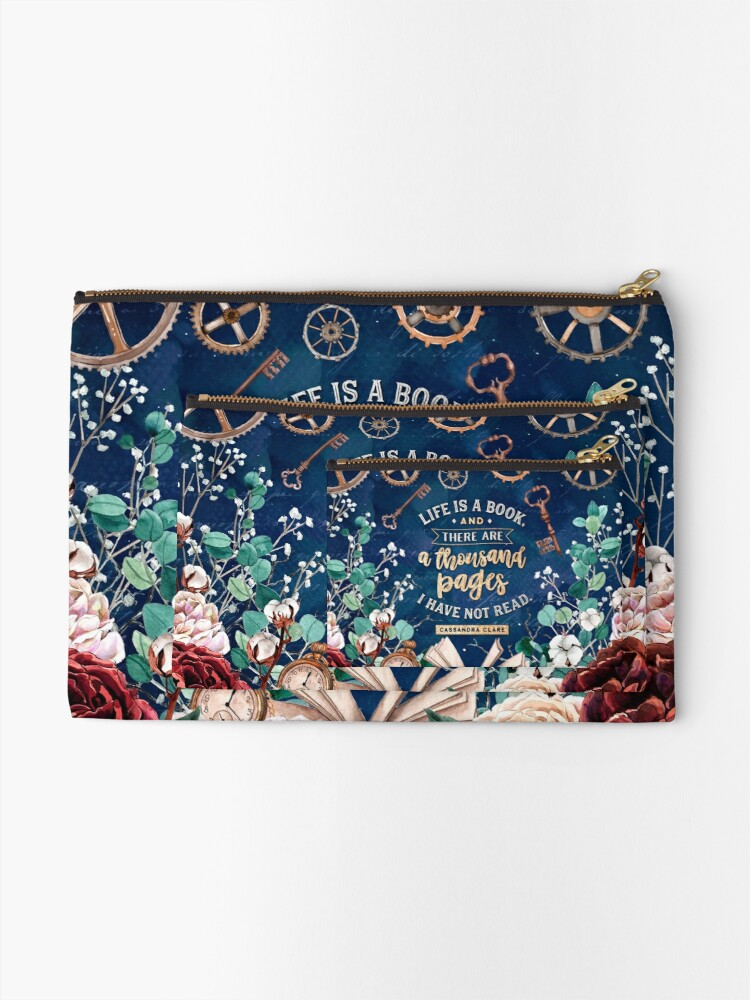 Alternate view of Life is a book Zipper Pouch