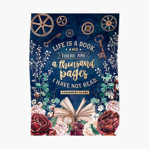 Life is a book Poster