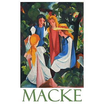 Four Girls by German Expressionist August Macke by Chunga
