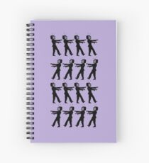 March of the Zombie TV Guys by Chillee Wilson Spiral Notebook