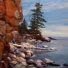 Shoreline near Thunder Bay Ontario Canada  by loralea