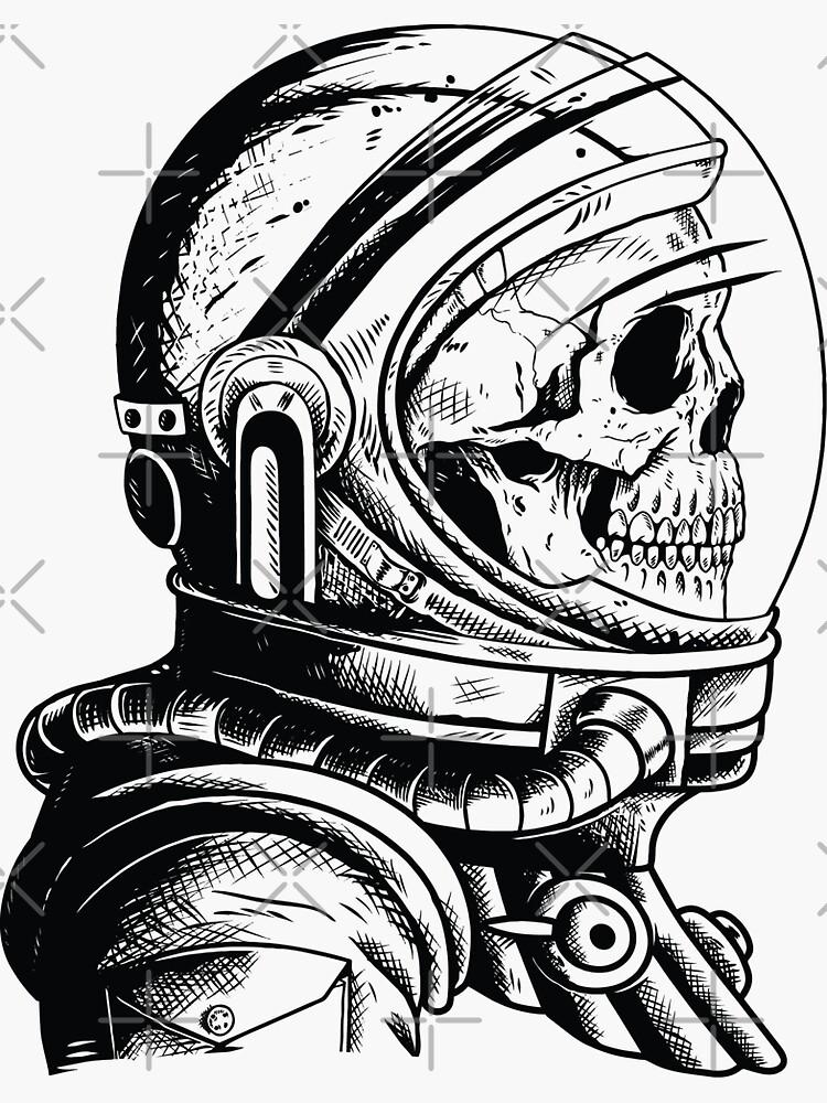 Skull in an astronaut helmet by SuperSeries