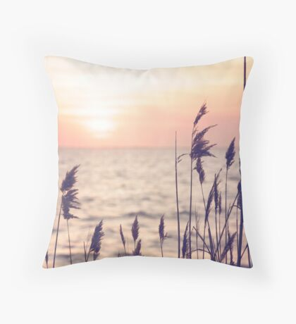 Dune grass in the sunset Throw Pillow
