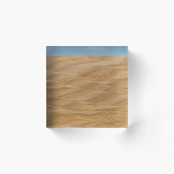 Fields of Val D Orcia Acrylic Block